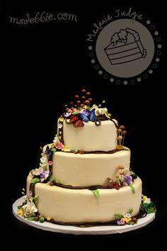 Image detail for -woodsy wedding cake mushroooms acorns butterflies vines