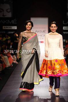 Kajol walks the ramp for Manish Malhotra at the Lakme Fashion Week | PINKVILLA