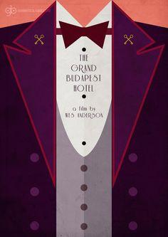The Grand Budapest Hotel (2014) ~ Minimal Movie Poster by Gian Bautista #amusementphile