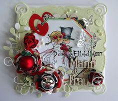 Hochzeit Wedding Card Karte LOTV Liliofthevalley paperflower papierblumen