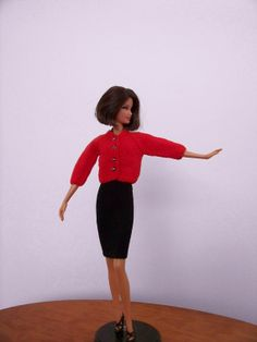Red cardigan for Barbie