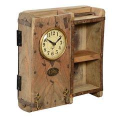 Alpen Home Analoge Wanduhr Elyssa Handmade Wall Clocks, Handmade Home Decor, Home Clock, Recycled Brick, Brick Molding, Pendulum Wall Clock, Kare Design, Design Design, Eames Chairs