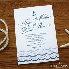 Marina Nautical Wedding and Event Stationery  by prettychicsf, $14.00