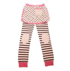 Designer baby girl clothing - Mini Kiniki - Bat Stripe Skirt Leggings.  Price: $39.95.   Description:  Adorable, stylish with the just the right dash of quirky!  Have your baby girl stand out from the crowd in these gorgeous bat stripe skirt leggings by Kiniki! Designer baby girl clothing - Mini Kiniki