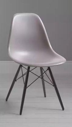 Vitra Eames DSW Chair, Mauve Grey / Black Maple