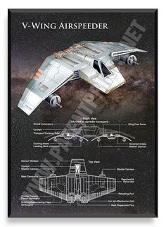V-Wing, Star Wars Poster
