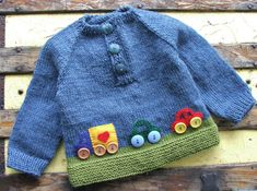 Baby Boy Clothing - Baby Boy Wool Sweater With Cars - Hand Knitted Size Blue and Green Pullover for Toddler Boys - Birthday Baby Boy Sweater, Baby Vest, Knitting For Kids, Baby Knitting, Knitted Baby, Baby Boy Outfits, Kids Outfits, Baby Boy Haircuts, Baby Boy Quotes