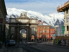 A great view of Innsbruck with the Nordkette mountain range in the background #feelaustria