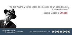 Juan Carlos Onetti. Sobre escribir.