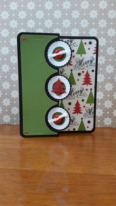 Triplet Christmas Tree card from The Stamps by BarbsCardBoutique
