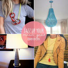 Jazz It Up: 8 Craft Ideas with Mardi Gras Beads