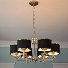 "31"" Diameter 6-light Nickel Chandelier 