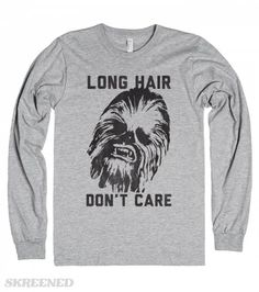 Long Hair Don't Care | Rock that long hair with Chewy and release your nerd side.  #Skreened