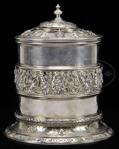 "WONDERFUL ABRAHAM LINCOLN PRESENTATION SILVER HUMIDOR FROM 1861. Panel reads ""Presented by Abraham Lincoln. President of the United States of America to The Seventh New York Regiment as a mark of admiration and respect of their talent displayed in the concert given on the lawn of WHITE HOUSE WASHINGTON 1861"""