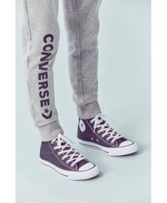 Converse Big Boys Star Chevron Logo Jogger Pants - Black L (16/18)