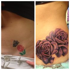 My purple vintage rose hip coverup tattoo