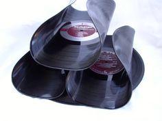 Recycled Record Album Wine Rack
