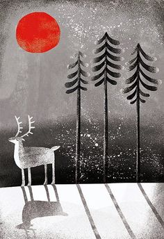 deer in the woods, by Essi Kimpimaki #abitofacharacter