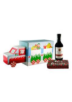 Un regalo sencillo pero con linda presentación. Un camión navideño que trae vino, un ponque navideño y los mejores deseos de la compañia. Este y muchos mas regalos empresariales de navidad los consigues en La Confitería. Facial Tissue, Simple Gifts, Business Gifts, Special Gifts, Xmas