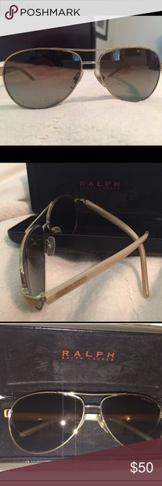 Ralph Lauren polarized aviators Polarized! Like new aviators, no scratches or scuffs. Comes with case. Size: 59-13-130 Ralph Lauren Accessories Sunglasses
