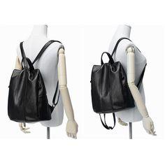 4048e79ac4d0 JeHouze Fashion Women Anti-Theft Handbag Genuine Leather Backpack Casual Bag (Black)