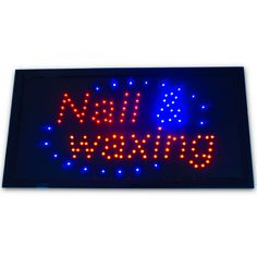 "Bright Animated Nails & Waxing Beauty Salon SPA LED ShopSign 19x10"" Display neon #AhhaProducts"