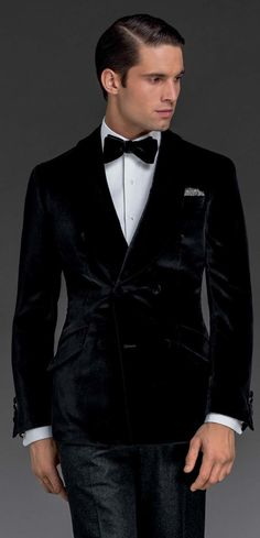 Black Velvet Smoking Jacket | More from Koket at: http://bykoket.com