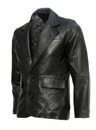 Mission Impossible Black Leather Blazer Jacket