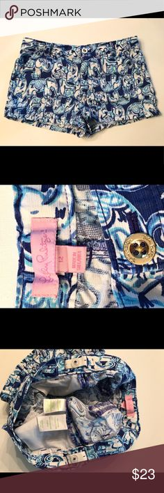 Lilly Pulitzer shorts EUC Lilly Pulitzer girls kids shorts size 12. Purchased brand new from our local Lilly store. Worn by my daughter last season who's now moved up in size. No trades, please. Lilly Pulitzer Bottoms Shorts