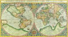 Art Print - Antique Map of the World - Wall Art, poster, print, decor, office, den, bedroom