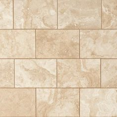 Perla Beige Polished Travertine Tile - 8 x 12 - 922101154 | Floor and Decor