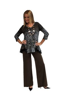 126215-TAUPE-GRY https://fashquedesigns.com/shop/126215-taupe-gry/ GATHERED AT WAIST LACE AND NET TRIMMED TUNIC...