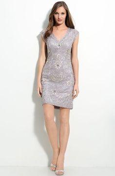 SUE Wong Beaded Soutache Sheath Dress Size 4 | eBay