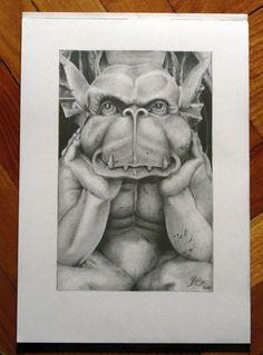 Gargoyle by bodaszilvia.deviantart.com on @deviantART