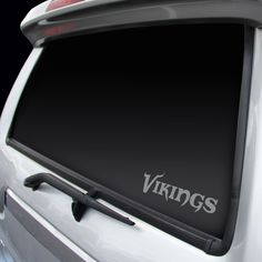 Minnesota Vikings Window Graphic Decal NEW!! Chrome FREE SHIPPING