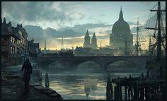 Assassin's Creed  - London Mood - , Raphael Lacoste on ArtStation at https://www.artstation.com/artwork/x3QoR
