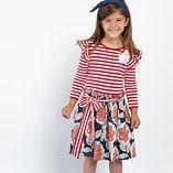 Red & Navy Melissa A-Line Dress - Toddler & Girls