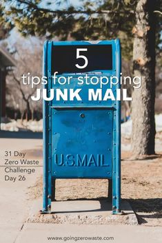 How to Stop Junk Mail - Day 26 of the Zero Waste Challenge - Going Zero Waste