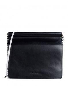 JIL SANDER-Two-Tone Leather Shoulder Bag