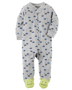 Cute, cuddly and oh-so soft, this easy 1-piece is perfect for playtime, tummy time, or anytime! Cute Boy Outfits, Toddler Outfits, Kids Outfits, Baby Boy Pajamas, Carters Baby Boys, Discount Baby Clothes, Baby Boy Camo, Cowboy Baby, Baby Kids Clothes