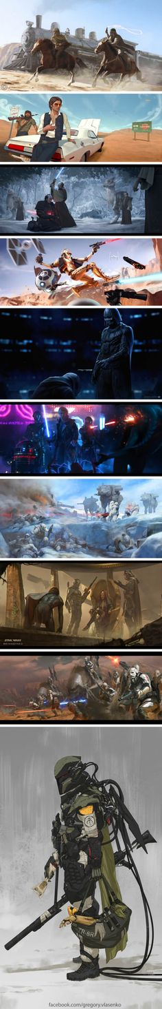 A collection of Star Wars images reimagined Star Wars Pictures, Star Wars Images, Best Funny Pictures, Cool Pictures, Star Wars Painting, Star Wars Facts, Star Wars Concept Art, Sci Fi Fantasy, Geek Culture