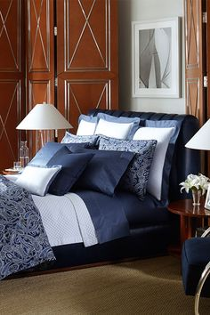 Cozy up in #RalphLauren's Costa Azzurra Paisley Bedding collection and wake up in luxury every morning.