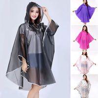 New Women Raincoat Fashion Waterproof Jacket Portable Rain Coat Hood Cape Poncho