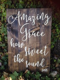 Amazing Grace how sweet the sound, beloved hymn, inspirational home decor, Amazing grace sign, enc
