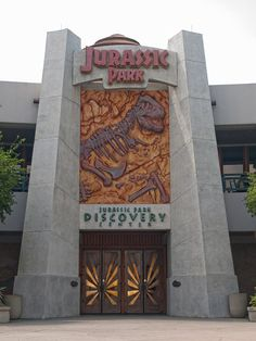 The back door to the Jurassic Park visitor's center, Universal Studios, Florida.