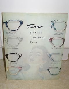 Vintage Tura Cat Eye Glasses 1955 Promotional Pamphlet Color   Style  Eyeglasses a22e220cf0