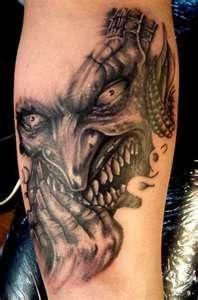 Ghastly Devil Demon Tattoo