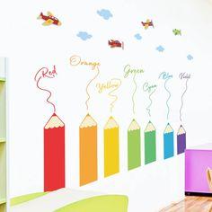 Welcome To Kindergarten, Kindergarten Colors, Kindergarten Math Activities, School Board Decoration, School Decorations, Teacher Postcards, Sensory Wall, Cheap Wall Stickers, Art Wall Kids