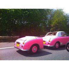 Nissan Figaro with custom trailer-brilliant idea!