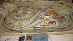 HO train Layout for 4x8